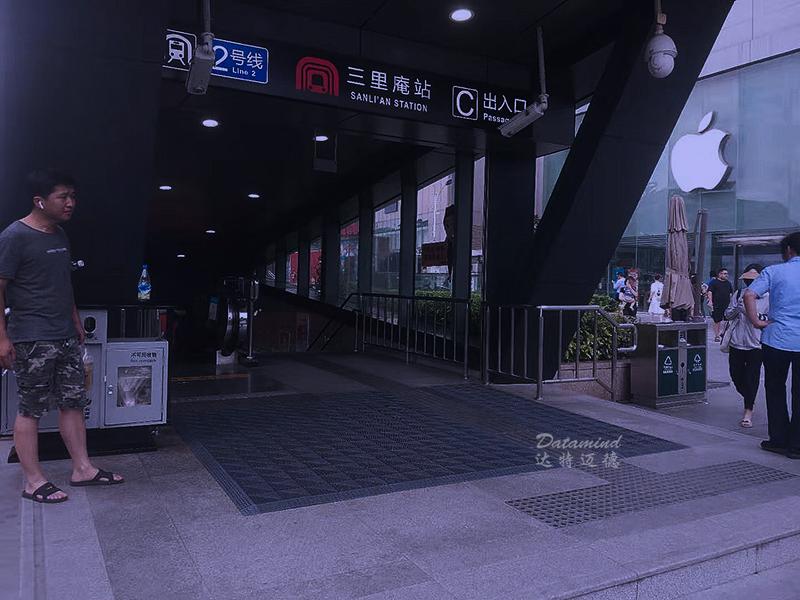 安徽合肥地铁站电梯口防滑地垫
