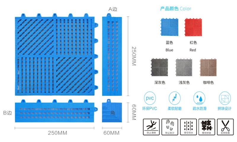 DM950A疏水防滑地垫规格详细
