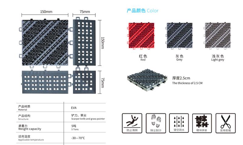 三合一无刷防滑地垫颜色及规格详细